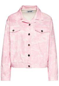 Ice Play Kurtka jeansowa 21E U2M0 O021 6031 S411 Różowy Relaxed Fit. Kolor: różowy. Materiał: jeans