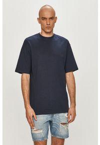 Jack & Jones - T-shirt. Okazja: na co dzień. Kolor: niebieski. Materiał: dzianina. Wzór: gładki. Styl: casual