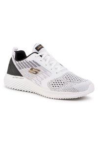 Białe sneakersy skechers z cholewką, na co dzień