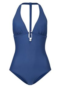 Kostium kąpielowy bonprix ciemnoniebieski. Kolor: niebieski