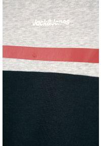 Szara bluza Jack & Jones na co dzień, bez kaptura, casualowa