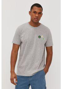 Lee - T-shirt. Kolor: szary. Wzór: nadruk