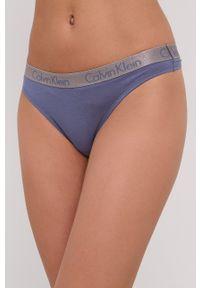Calvin Klein Underwear - Stringi. Kolor: niebieski