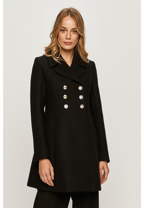 Czarny płaszcz Morgan na co dzień, bez kaptura