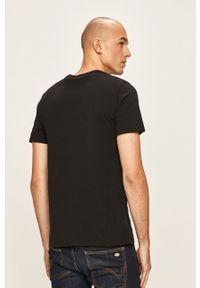 Czarny t-shirt Levi's® na spotkanie biznesowe, biznesowy, z nadrukiem