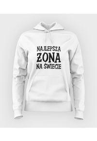 MegaKoszulki - Bluza damska z kapturem Najlepsza żona na świecie. Typ kołnierza: kaptur