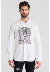 Biała koszula Just Cavalli biznesowa, na lato
