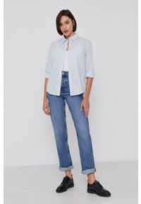 Levi's® - Levi's - Koszula bawełniana. Okazja: na co dzień, na spotkanie biznesowe. Kolor: niebieski. Materiał: bawełna. Długość rękawa: długi rękaw. Długość: długie. Wzór: gładki. Styl: biznesowy, casual