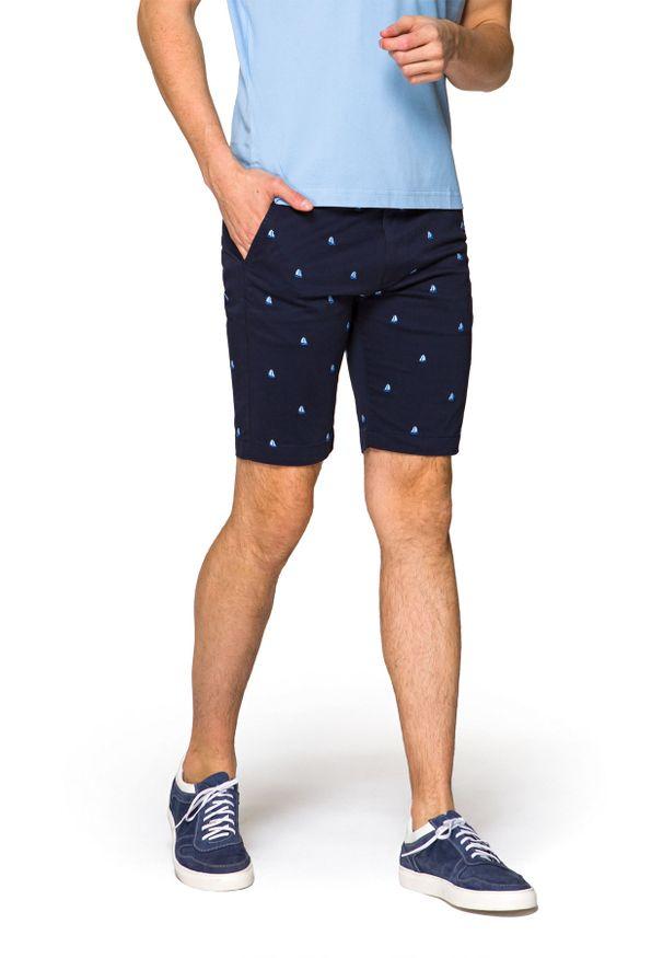 Niebieskie szorty Lancerto na lato, krótkie