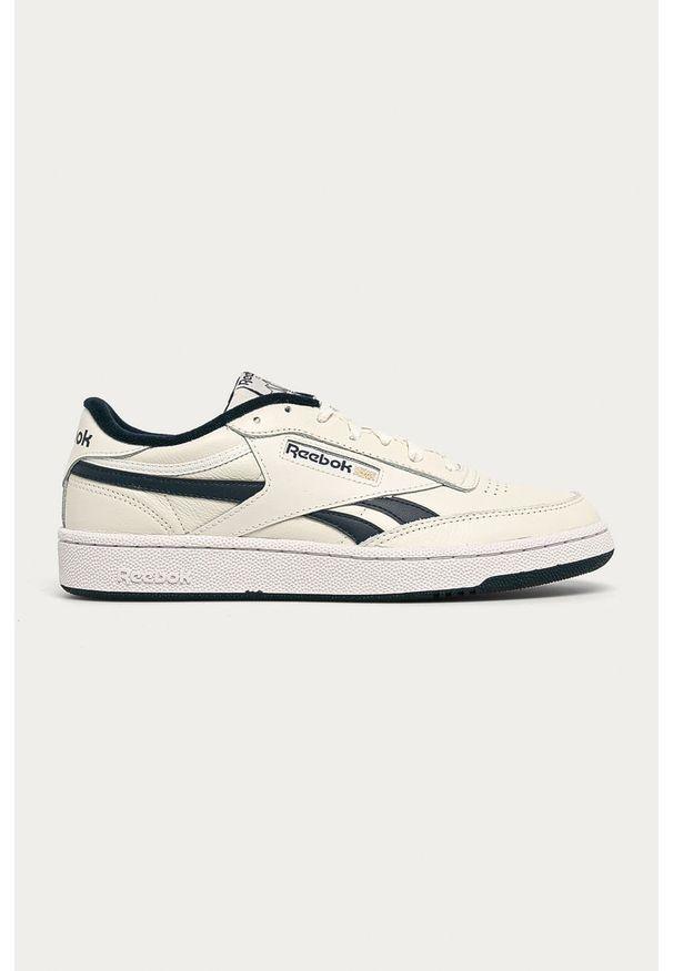 Białe sneakersy Reebok Classic na sznurówki, z okrągłym noskiem