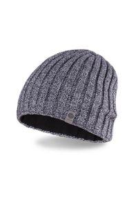 Szara czapka zimowa PaMaMi casualowa