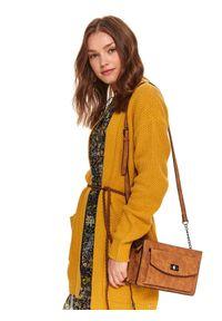 Żółty sweter TOP SECRET z długim rękawem, długi