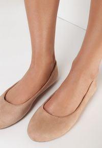 Born2be - Różowe Balerinki Prisoesa. Nosek buta: okrągły. Kolor: różowy. Materiał: skóra ekologiczna. Styl: klasyczny