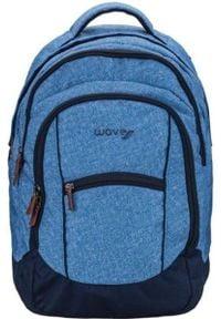 ROSA Plecak młodzieżowy Jeans Stripes niebieski. Kolor: niebieski. Materiał: jeans. Styl: młodzieżowy