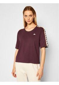 Kappa T-Shirt Hedda 308001 Fioletowy Regular Fit. Kolor: fioletowy