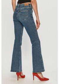 Niebieskie jeansy bootcut Lee gładkie