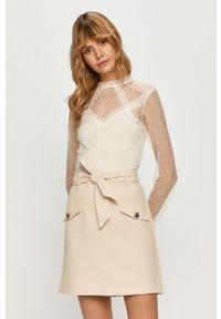 Biała bluzka Morgan casualowa, długa, na co dzień, w koronkowe wzory