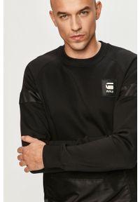 Czarna bluza nierozpinana G-Star RAW na co dzień, bez kaptura