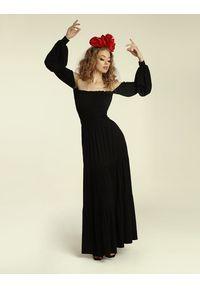 Madnezz - Sukienka Colombiana - czerń. Materiał: wiskoza, elastan