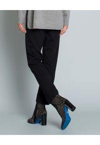 SEDUCTIVE - Spodnie w kant. Kolor: szary. Materiał: guma. Styl: elegancki