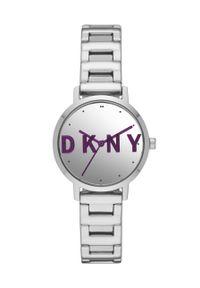 DKNY - Dkny - Zegarek. Kolor: srebrny. Materiał: materiał