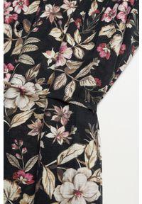 mango - Mango - Sukienka FARM. Kolor: czarny. Materiał: tkanina. Długość rękawa: długi rękaw. Typ sukienki: rozkloszowane