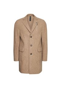 Beżowy płaszcz przejściowy Baldessarini