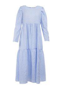 Born2be - Niebieska Sukienka Parmene. Kolor: niebieski. Styl: klasyczny. Długość: midi