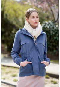 Marie Zélie - Kurtka Estel bawełna szarobłękitna. Kolor: niebieski. Materiał: bawełna. Długość: krótkie. Sezon: lato