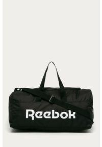 Czarna torba Reebok z nadrukiem, sportowa