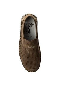 Rieker - Półbuty RIEKER - 05289-64 Beige. Okazja: na spacer, na co dzień. Kolor: brązowy. Materiał: skóra, nubuk, zamsz. Szerokość cholewki: normalna. Styl: elegancki, sportowy, casual