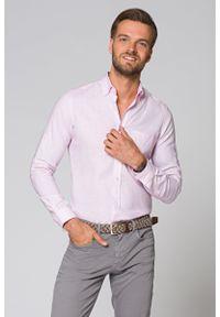 Różowa koszula Lancerto na lato, krótka