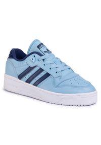 Niebieskie sneakersy Adidas z cholewką, na co dzień