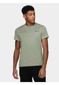 4f - T-shirt męski Wilfredo Leon x 4F. Materiał: dzianina, bawełna. Wzór: nadruk