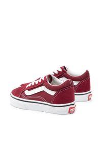 Vans - Tenisówki VANS - Old Skool VN000W9T9AK1 Pomegranate/True White. Kolor: czerwony. Materiał: zamsz, materiał, skóra