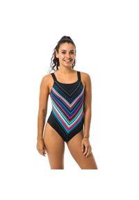 NABAIJI - Strój Jednoczęściowy Pływacki Taïs Mexa Damski. Kolor: czarny. Materiał: poliester, poliamid, materiał, elastan