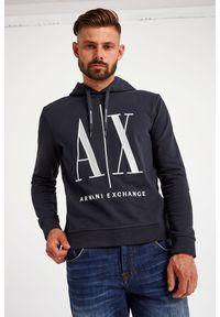 Armani Exchange - BLUZA ARMANI EXCHANGE. Typ kołnierza: kaptur. Materiał: bawełna. Długość rękawa: długi rękaw. Długość: długie. Wzór: haft #5
