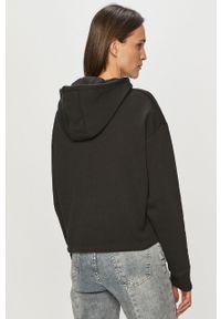 Czarna bluza Reebok Classic długa, z długim rękawem, z aplikacjami, z kapturem