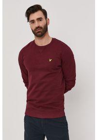 Lyle & Scott - Bluza bawełniana. Okazja: na co dzień. Kolor: czerwony. Materiał: bawełna. Wzór: aplikacja, gładki. Styl: casual
