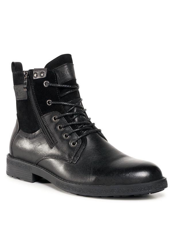 Czarne buty zimowe Lee Cooper z cholewką