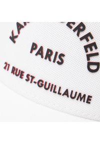 Karl Lagerfeld - Czapka z daszkiem KARL LAGERFELD - 805616 511118 10. Kolor: biały. Materiał: materiał, poliester, elastan