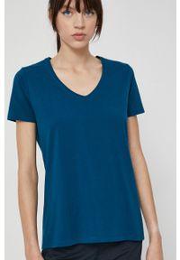 medicine - Medicine - T-shirt Basic. Kolor: zielony. Materiał: bawełna, dzianina. Wzór: gładki