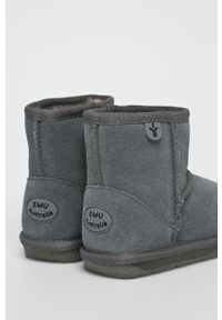 Szare buty zimowe EMU Australia na zimę, z cholewką