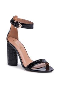 Czarne sandały R.Polański eleganckie