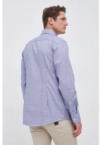 Eton - ETON - Koszula bawełniana. Okazja: na co dzień. Typ kołnierza: kołnierzyk klasyczny. Kolor: niebieski. Materiał: bawełna. Długość rękawa: długi rękaw. Długość: długie. Styl: klasyczny, casual