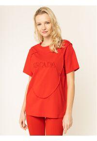 Czerwony t-shirt Escada Sport sportowy