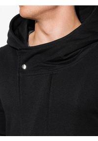 Ombre Clothing - Bluza męska rozpinana z kapturem B668 HUGO - czarna - XXL. Typ kołnierza: kaptur. Kolor: czarny. Materiał: bawełna, poliester. Styl: klasyczny, elegancki #5