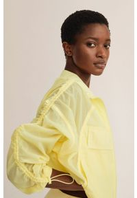 mango - Mango - Kurtka KEN. Kolor: żółty. Materiał: poliamid