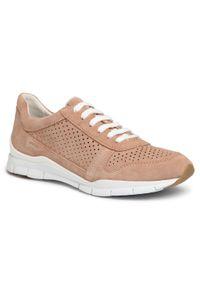 Geox - Sneakersy GEOX - D Sukie B D02F2B 00022 C8191 Dk Skin. Okazja: na co dzień. Kolor: beżowy. Materiał: skóra, zamsz. Szerokość cholewki: normalna. Sezon: lato. Styl: casual