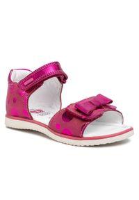Różowe sandały Lasocki Kids na lato, z aplikacjami